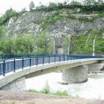 Die fertiggestellte Brücke