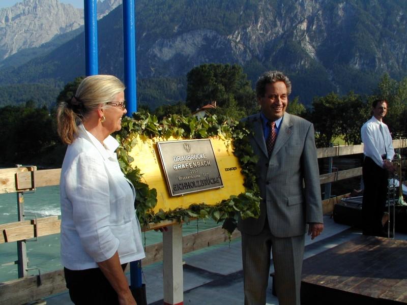 Feierliche Eröffnung durch Bürgermeister Helga Machne und Landeshauptmann Weingartner