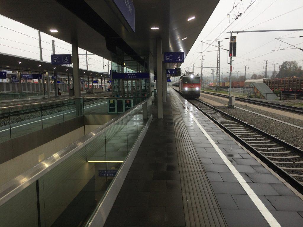 der fertige Bahnsteig
